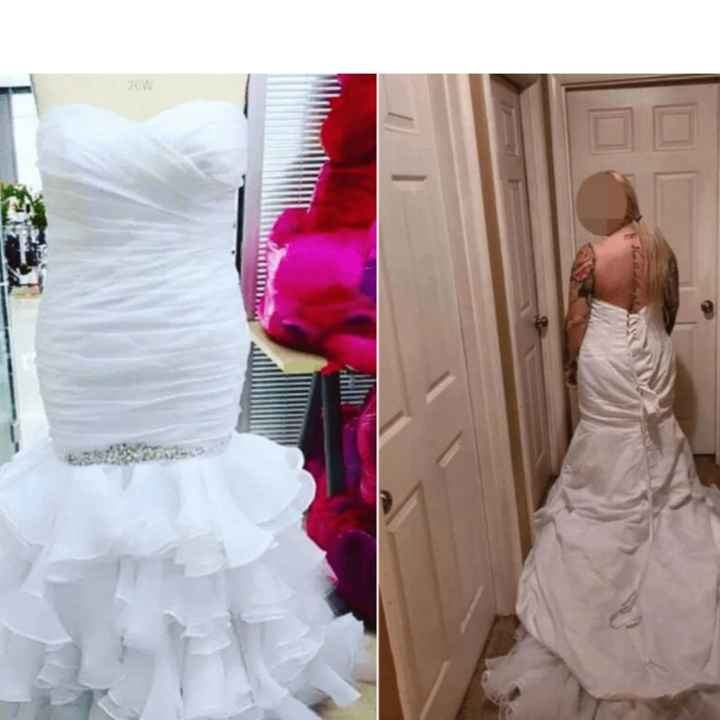 Compró el vestido de novia por Internet, se quejó porque no era lo que esperaba y la respuesta del n
