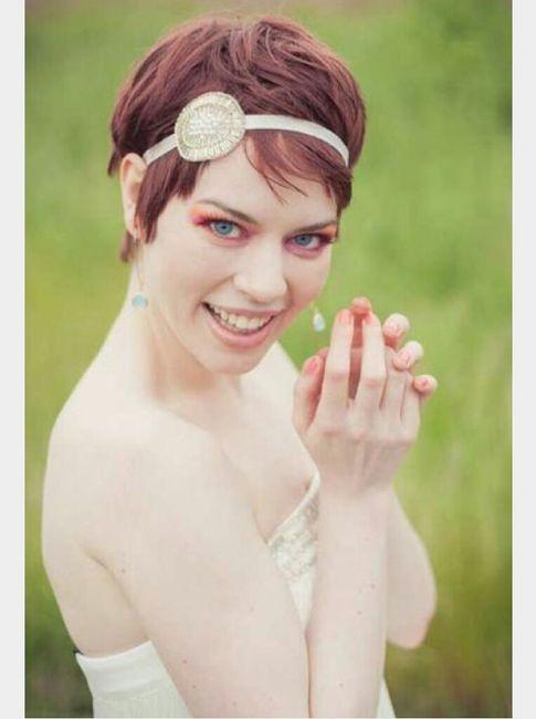 peinados de novia pelo corto o media melenita
