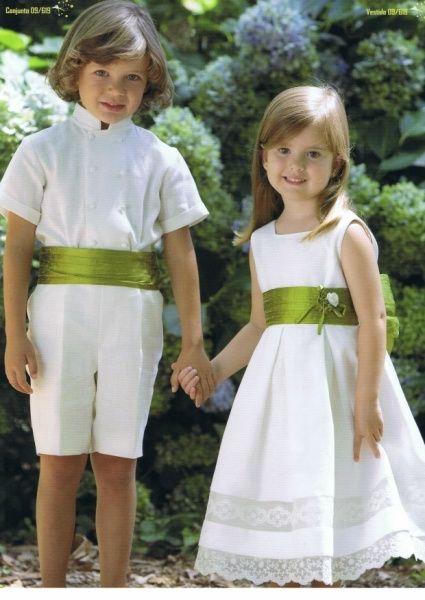 Bodas en color blanco y verde 10