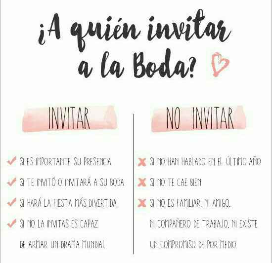 Tips  a quien invitar a la boda? - 5