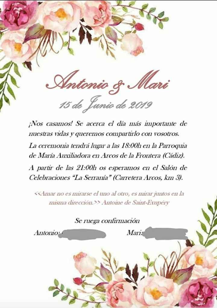 Invitaciones boda - 1