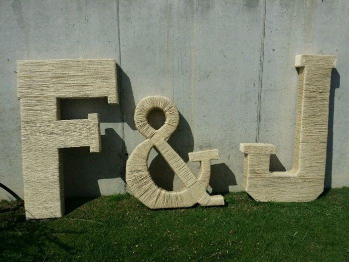 Mis letras gigantes f&j - 1