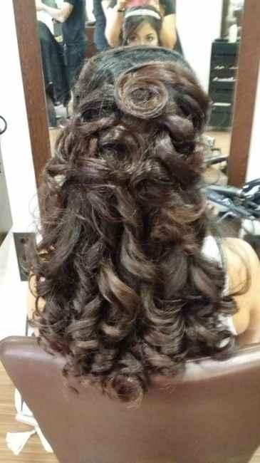 Encantada con  mi prueba de peinado - 1
