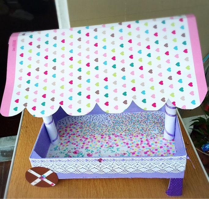 Carrito con caja pictures to pin on pinterest thepinsta - Como forrar una caja con tela ...
