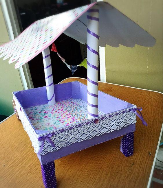 Carrito para chuches con caja de fresa manualidades - Como decorar cajas de madera paso a paso ...