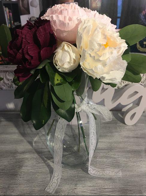 Haciendo las flores de mi boda 1