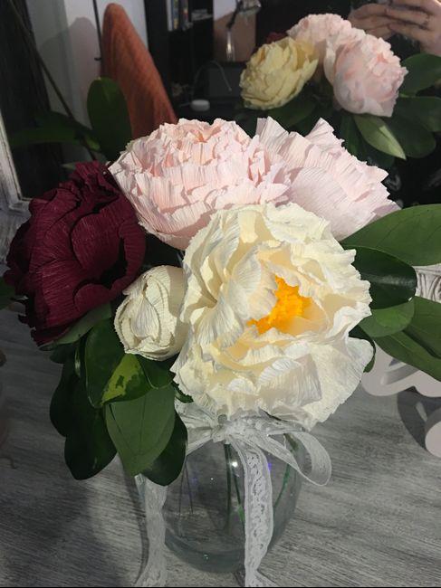 Haciendo las flores de mi boda 2