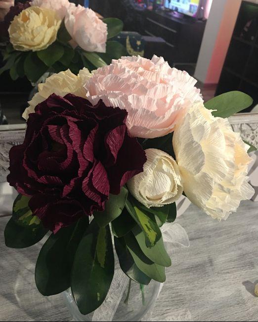 Haciendo las flores de mi boda 3