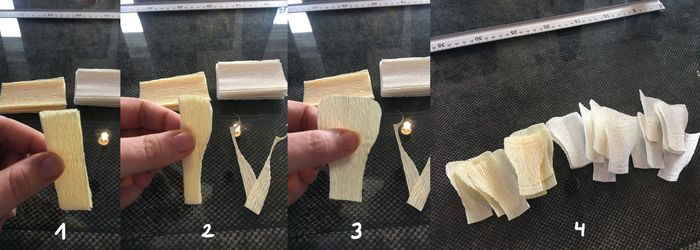 Tutorial para hacer peonías de papel crepé 6