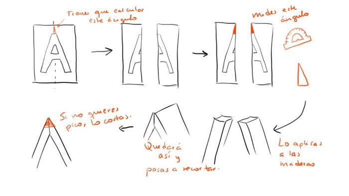 Problemilla letras diy con madera palets - 1