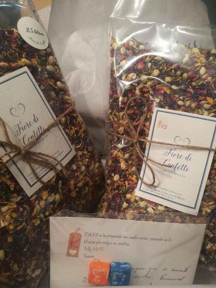 Conos para confeti de flores secas - 3