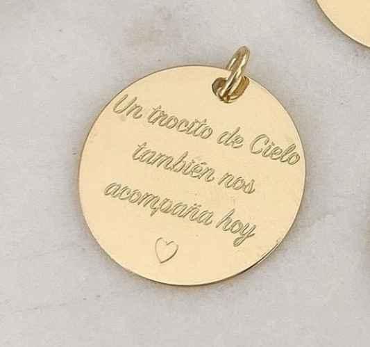 Medallitas en el ramo de novia❤ - 1