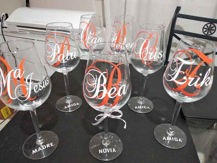 Copas vino hechas por mi con vinilo - 1