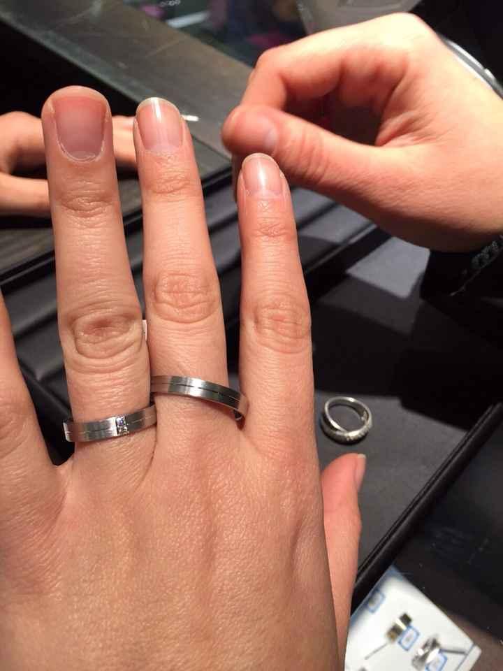 Los anillos de prueba 😍 - 1