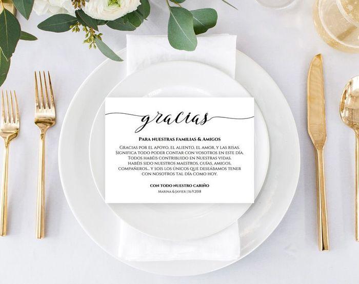 ¿Cómo daréis las gracias a vuestros invitados? 1