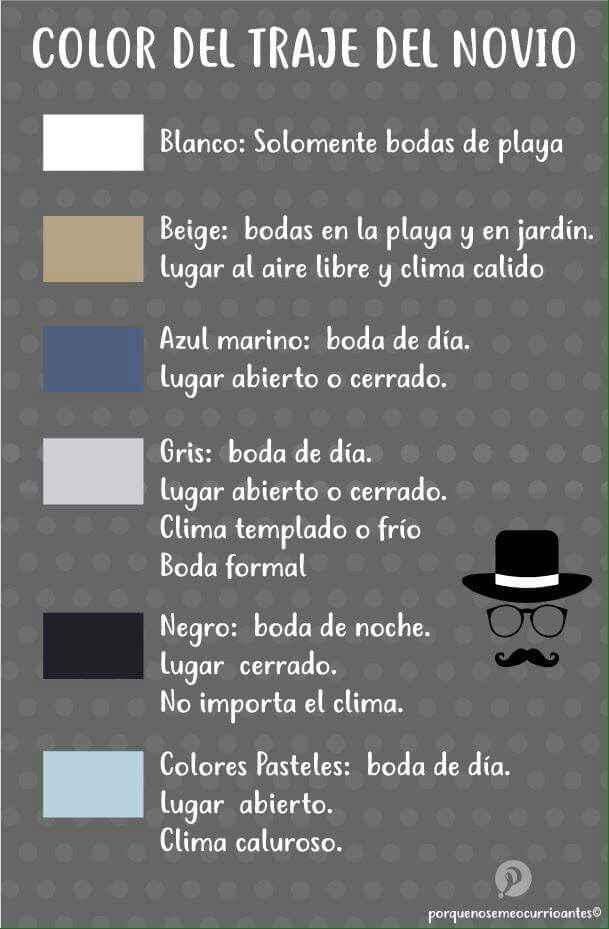 El color del traje de novio - 1