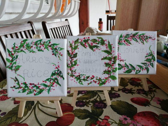 Carteles para la mesa del arroz y el confetti - 3