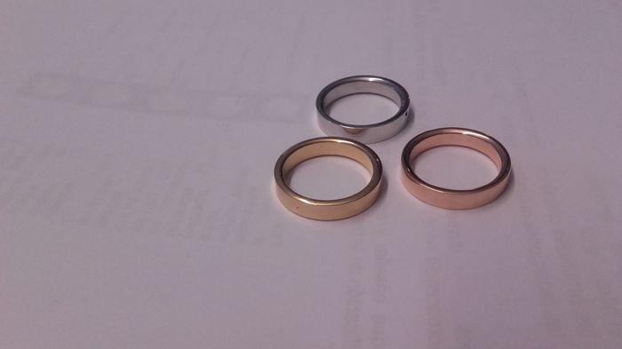 Alianzas twins diamonds oro rosa - 1