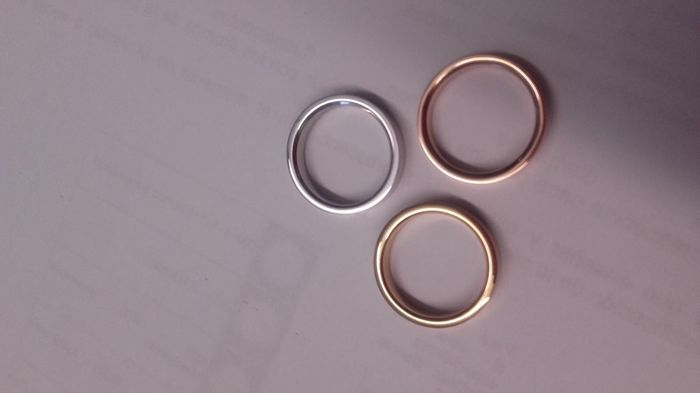 Alianzas twins diamonds oro rosa - 2