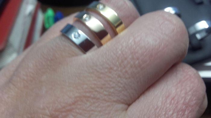 Alianzas twins diamonds oro rosa - 3