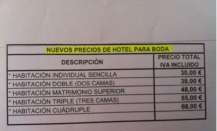 Precios habitaci n hotel pio xii jumilla fotos for Precio habitacion hotel