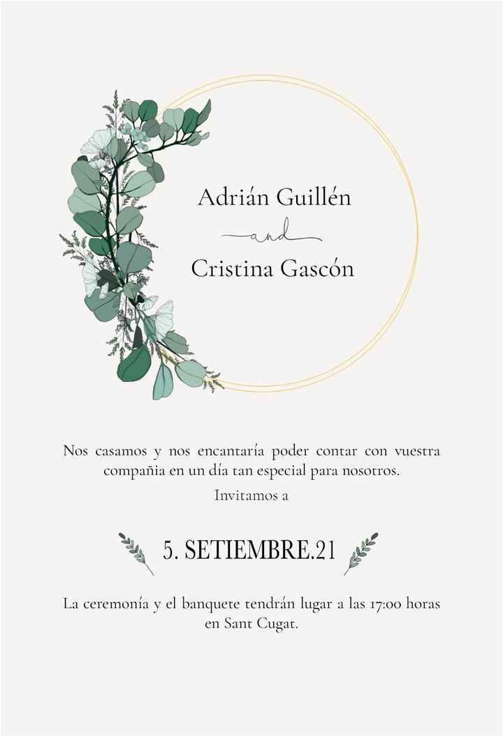 Prueba de invitaciones de boda - 1