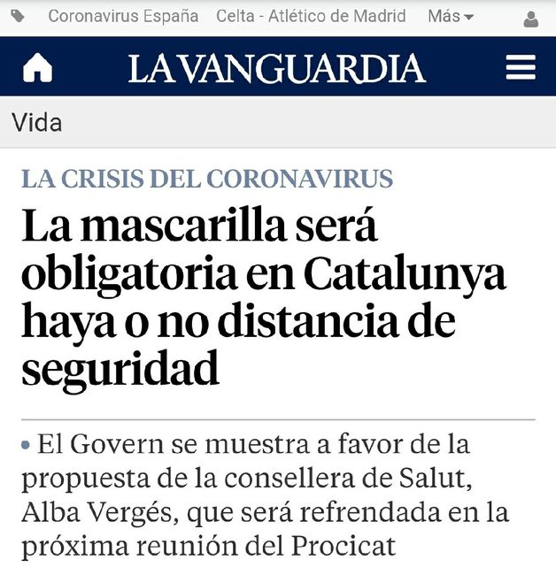 Alerta: mascarillas Catalunya 2