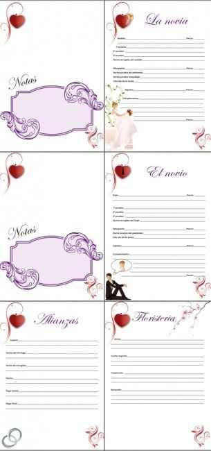 tercera parte de la agenda de boda