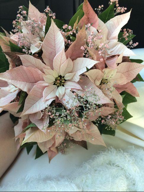 ramo de novia flores de pascua