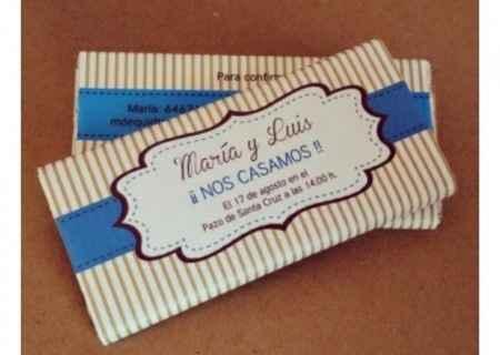 Invitaciones chocolate - 1