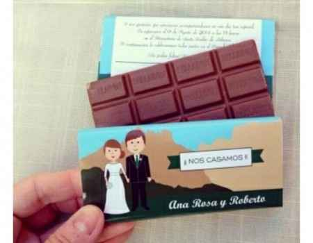 Invitaciones chocolate - 2