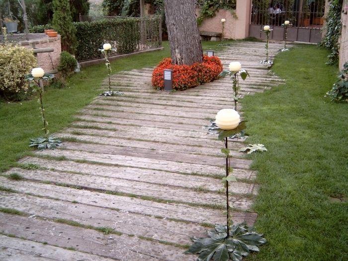 Velas con pie fotos - Velas jardin ...