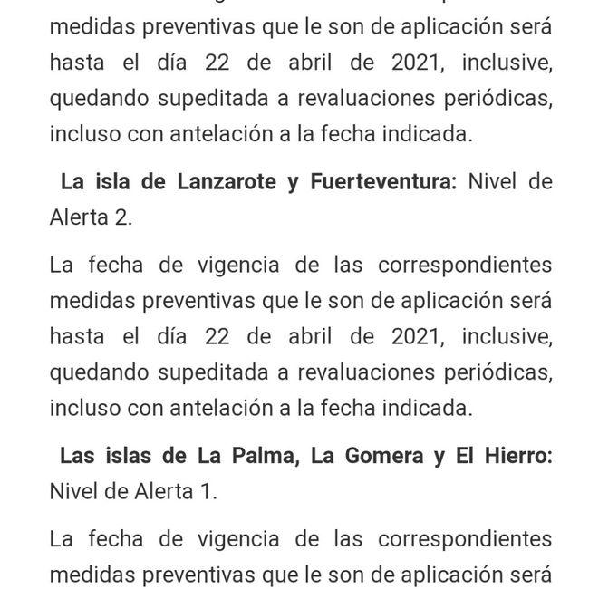 Cancelar el viaje a Canarias por cierre perimetral a 15 días del viaje 2