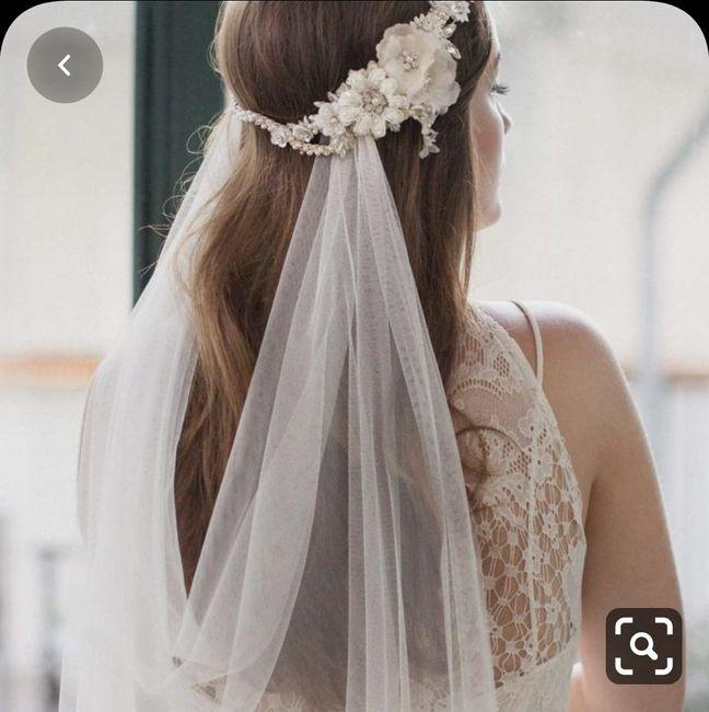 Velo de novia para ceremonia en la playa - 1