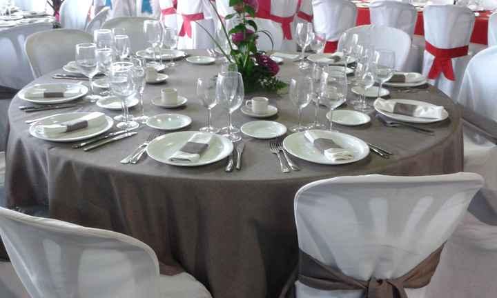Mantelerías en los banquetes - 1