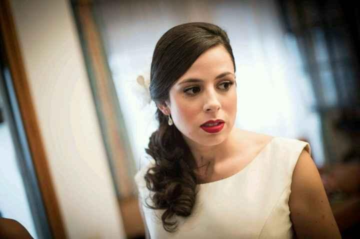 ¿fotos de novias ya casadas con labios rojos/oscuros? - 1