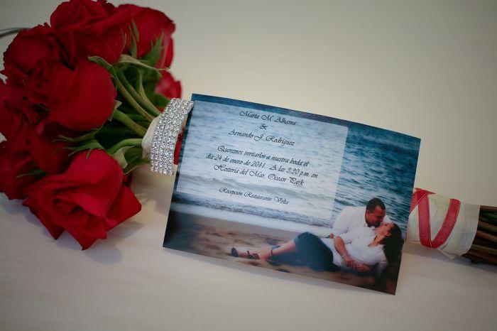 mi ramo e invitación boda