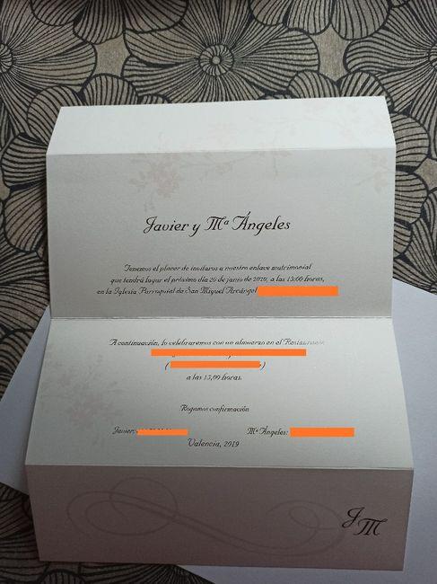 Por fin nuestras invitaciones 2
