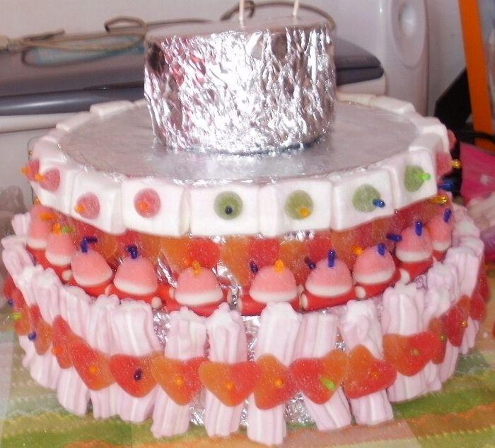 Mi tarta de chuches con tutorial manualidades foro for Envolver brochetas de chuches