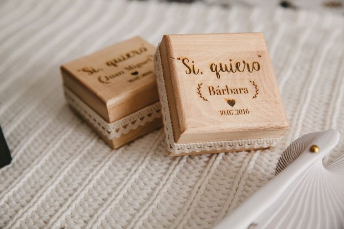Caja de madera para  anillos - 1