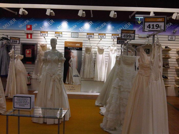 vestidos en las oportunidade del corte ingles - moda nupcial - foro