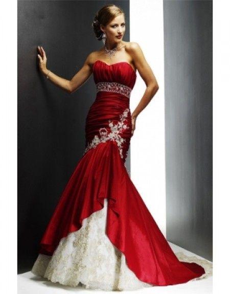 Vestidos novia civil rojo