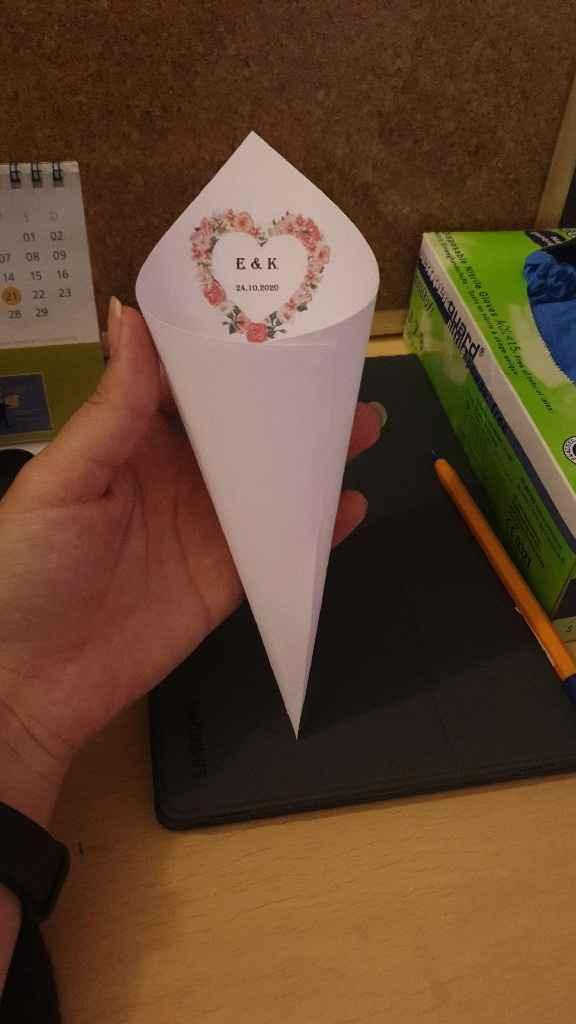 Mis conos de arroz y tarjetas de agradecimiento - 1
