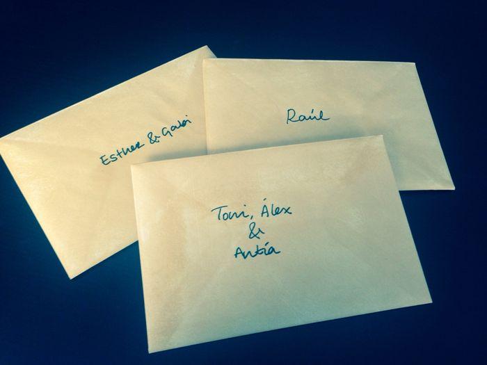 Como rellenar nombres invitados en los sobres - 1