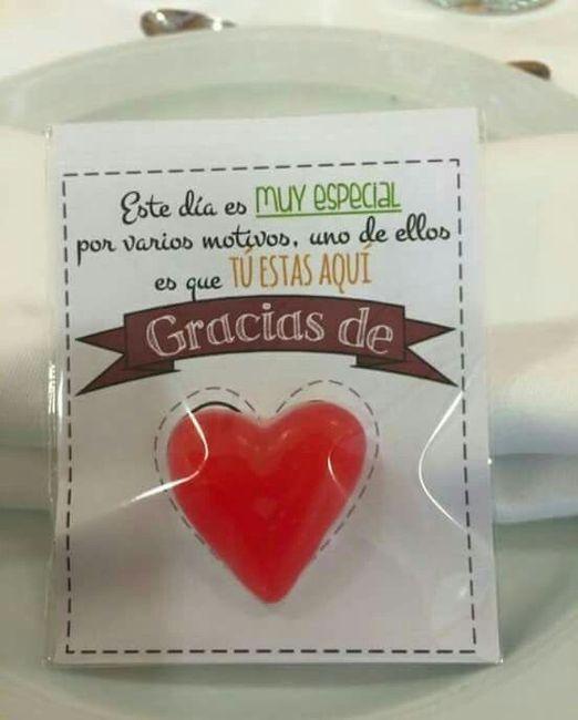 Caramelo de agradecimiento