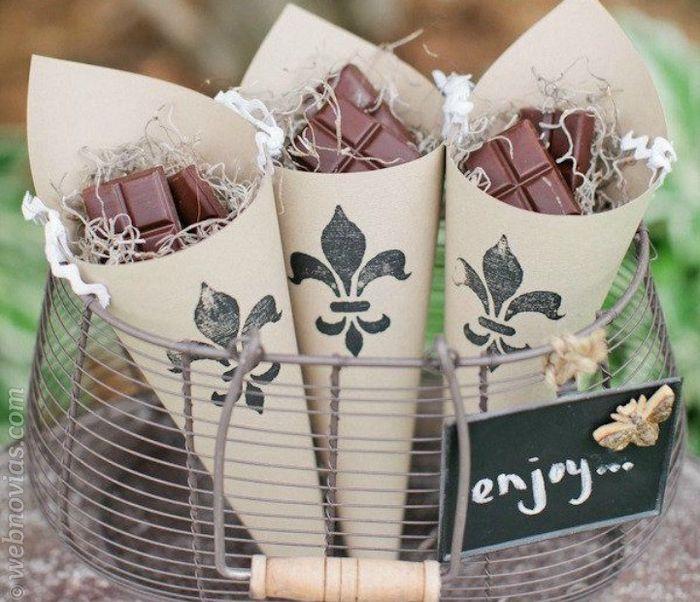 Chocolatinas de agradecimiento