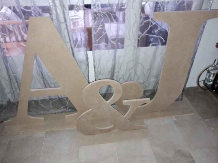 Mis letras gigantes con luces terminadas - 1