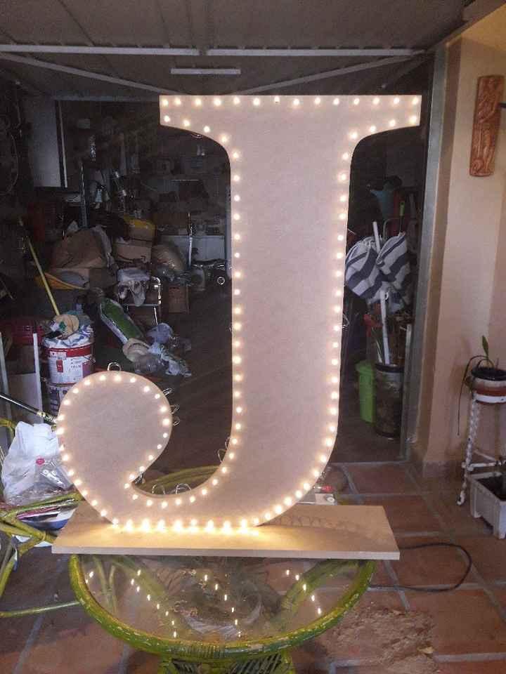 Mis letras gigantes con luces terminadas - 5