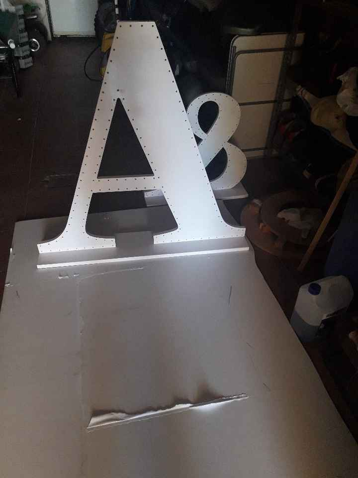 Mis letras gigantes con luces terminadas - 10