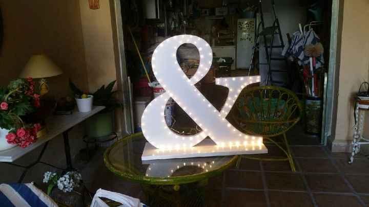 Mis letras gigantes con luces terminadas - 11